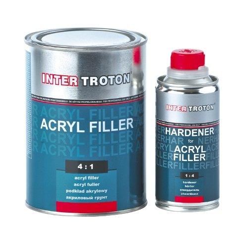 Inter TrotonAcryl Füller HS 4:1 0,8L Grau + Härter 0,2L