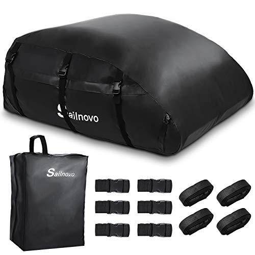 Sailnovo Dachbox, 580L Faltbare Auto Dachkoffer Gepäckbox Wasserdicht