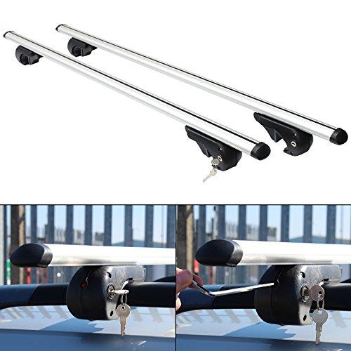Hardcastle Dachträger fürs Auto - abschließbar als Diebstahlschutz - aerodynamisch - Aluminium - 3 Größen