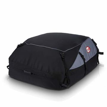 Koolertron 600D Oxford Faltbare Dachgepäckträger-Tasche – Schwarz -
