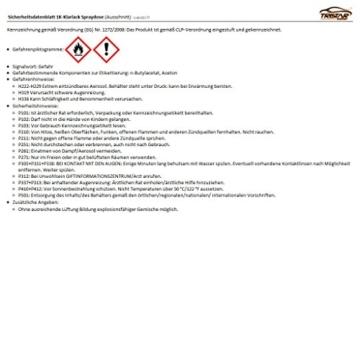 KLARLACK schwarz GLÄNZEND 400 ml Autolack Sprühdose -
