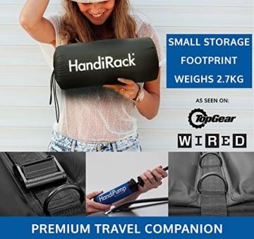 HandiRack – Aufblasbarer Universalgepäckträger (schwarz) – Dachgepäckträger – Passt für die meisten Autos -