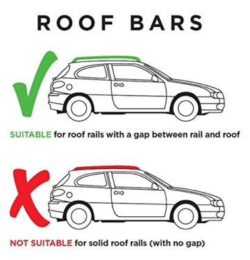 Hardcastle Dachträger fürs Auto – abschließbar als Diebstahlschutz – aerodynamisch – Aluminium – 3 Größen -