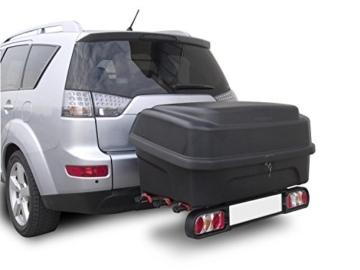 MENABO Boxxy schwarz Transportbox Gepäckbox für Kupplungsträger Heckträger 330 Liter -