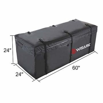 WISAMIC Heckbox Für Anhängerkupplung Auto Hintere Gepäcktasche - Wasserdicht Transporttasche 60 x 24 x 24 Zoll (566 Liter) 500 x 500 D PVC Tarpulin - 5