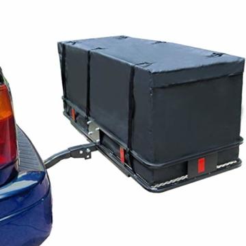 WISAMIC Heckbox Für Anhängerkupplung Auto Hintere Gepäcktasche - Wasserdicht Transporttasche 60 x 24 x 24 Zoll (566 Liter) 500 x 500 D PVC Tarpulin - 7