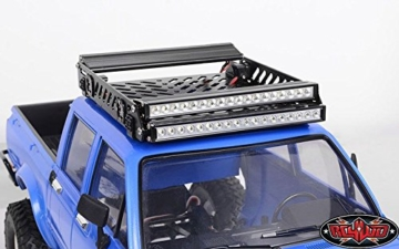 RC4WD Toy Tough Armor LZR-1 Metal Roof Rack Z-X0039 Baja Squadron S8 Light Bar Mount - 4