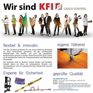 2er Set KFI Cargo Control qualitätsgeprüfte Spanngurte mit Ratsche   Länge: 4 m   Ratschengurt einteilig nach EN 12195-2   Zurrgurte 400/800 kg - 5