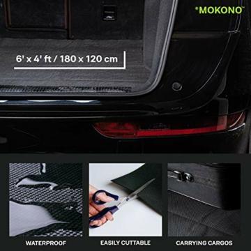 MOKONO®️ Antirutschmatte - extra groß 180x120 - schwarz - individuell zuschneidbar - Kofferraummatte für festen Halt im Auto - 2
