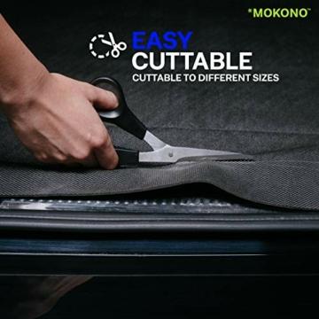 MOKONO®️ Antirutschmatte - extra groß 180x120 - schwarz - individuell zuschneidbar - Kofferraummatte für festen Halt im Auto - 4