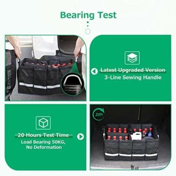 Oasser Kofferraumtasche Kofferraum-Organizer mit Deckel Auto Kofferraum Organizer Autotasche Auto Kofferraum Box Praktisch und Wasserdicht Verpackung MEHRWEG - 3