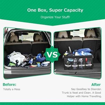 Oasser Kofferraumtasche Kofferraum-Organizer mit Deckel Auto Kofferraum Organizer Autotasche Auto Kofferraum Box Praktisch und Wasserdicht Verpackung MEHRWEG - 4