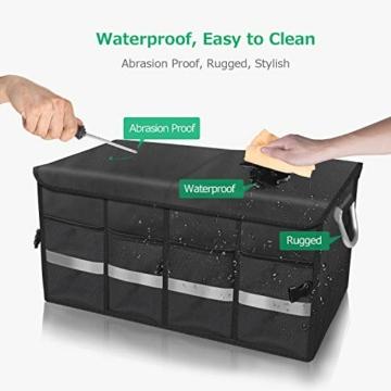 Oasser Kofferraumtasche Kofferraum-Organizer mit Deckel Auto Kofferraum Organizer Autotasche Auto Kofferraum Box Praktisch und Wasserdicht Verpackung MEHRWEG - 6