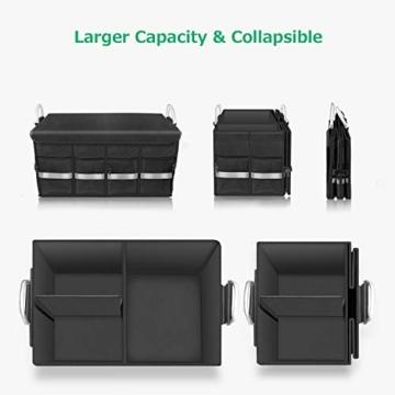 Oasser Kofferraumtasche Kofferraum-Organizer mit Deckel Auto Kofferraum Organizer Autotasche Auto Kofferraum Box Praktisch und Wasserdicht Verpackung MEHRWEG - 8