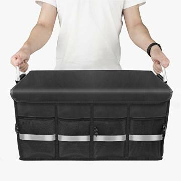 Oasser Kofferraumtasche Kofferraum-Organizer mit Deckel Auto Kofferraum Organizer Autotasche Auto Kofferraum Box Praktisch und Wasserdicht Verpackung MEHRWEG - 9