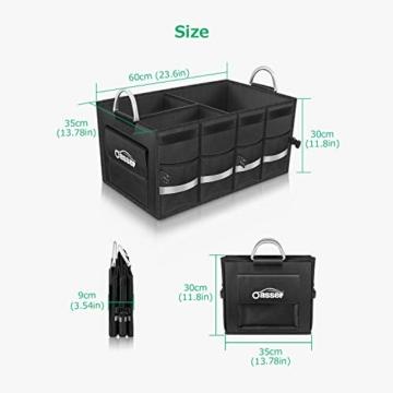 Oasser Kofferraumtasche Kofferraum-Organizer mit Deckel Auto Kofferraum Organizer Autotasche Auto Kofferraum Box Praktisch und Wasserdicht Verpackung MEHRWEG - 10