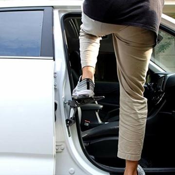 PHATRIP Auto Türstufe Klappbare Autotür Pedal Klappleiter für Autos Unkompliziert aufs Dach Zu Kommen Universal Doorstep Passt die Fahrzeug mit Den U Türfallen SUV, Jeep, RV - 4