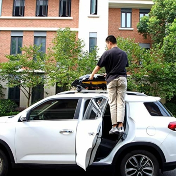 PHATRIP Auto Türstufe Klappbare Autotür Pedal Klappleiter für Autos Unkompliziert aufs Dach Zu Kommen Universal Doorstep Passt die Fahrzeug mit Den U Türfallen SUV, Jeep, RV - 5