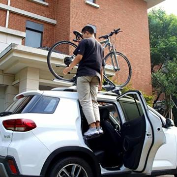 PHATRIP Auto Türstufe Klappbare Autotür Pedal Klappleiter für Autos Unkompliziert aufs Dach Zu Kommen Universal Doorstep Passt die Fahrzeug mit Den U Türfallen SUV, Jeep, RV - 6