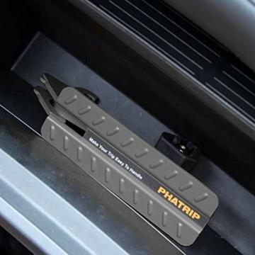 PHATRIP Auto Türstufe Klappbare Autotür Pedal Klappleiter für Autos Unkompliziert aufs Dach Zu Kommen Universal Doorstep Passt die Fahrzeug mit Den U Türfallen SUV, Jeep, RV - 7