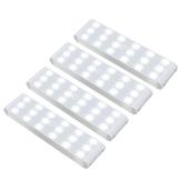 Racokky LED Sensor Licht 18 LEDs,Schrankbeleuchtung,Wiederaufladbar Schranklicht mit Bewegungsmelder,LED Küchenleuchte,Weiches Licht für Kleiderschrank,Kofferraum,Treppe,RV(4 Stück) - 1