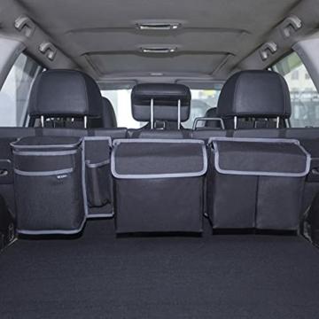 Vicera Kofferraum Organizer mit Klett – Kofferraumtasche fürs Auto mit teilbaren Modulen und integrierter Kühltasche – zur Ordnung & Aufbewahrung - 1