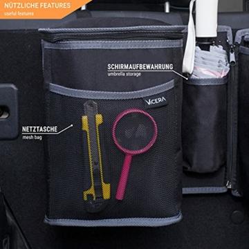 Vicera Kofferraum Organizer mit Klett – Kofferraumtasche fürs Auto mit teilbaren Modulen und integrierter Kühltasche – zur Ordnung & Aufbewahrung - 6